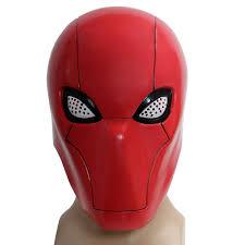 Red Hood Mask Updated Version Mesh Eyes Full Head Pvc Batman