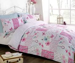 dream patchwork duvet cover quilt bedding set pink double