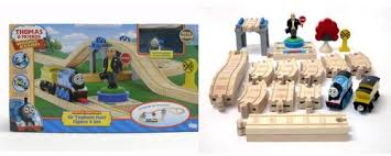 and friends wooden railway set with battery powered