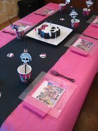 deco de table pour anniversaire anniversaire monster high 2 les hobbies d u0027aurélie