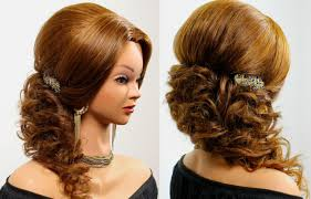 prom wedding hairstyle for long hair tutorial youtube