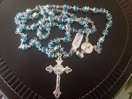 rosary from the vatican vintage blue glass rosary rosary vatican by mimisvintageshop