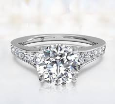 wedding rings setting images Gold engagement ring settings pav set engagement rings ritani jpg