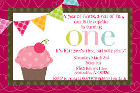 1st year baby birthday invitation cards cupcake birthday invitations cupcake birthday invitations by