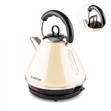 breakfast set long slot toaster kettle retro stainless steel cream