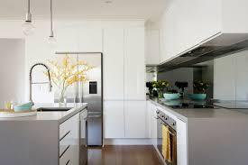 freedom kitchens caesarstone sleek concrete modern industrial