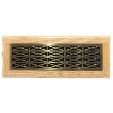 shop accord trellis antique brass steel floor register rough