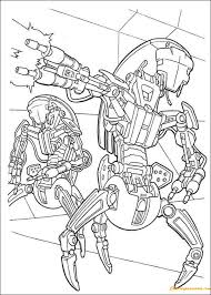 robots coloring free coloring pages
