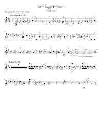 hedwigs theme violin solo musescore