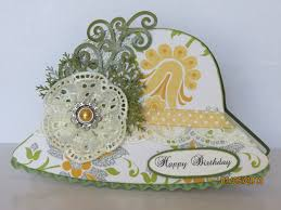 ligaya u0027s creativity zone hat card with shabby chic lace flowers