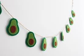 avocado garland avocado bunting felt avocado décor avocado
