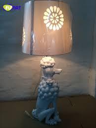 Schlafzimmer Lampe Silber Fumat Modern Art Deco Pudel Tischlampe Wohnzimmer Nachttischlampe