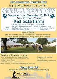 Red Barn Kennel 2017 Annual Dog Show U2013 Savannah Kennel Club