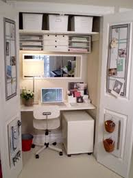 Ideas For A Small Office Convert A Small Closet Into Tiny Office Space I Could Use 2 Of