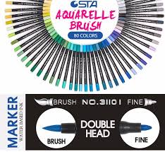 sta 80colors double head artist soluble colored copic sketch