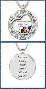 children s birthstone rings for mothers mothers necklace with kids names thrill this year