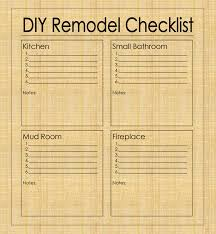 bathroom remodel checklist template kitchen remodel checklist