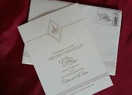 Shop Opening Invitation Card The Card Bar Grand Opening Letterpress Invitation Debi Sementelli