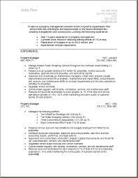 property management resume samples free resumes tips