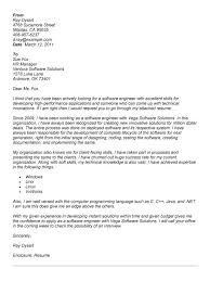 software engineer cover letter software developer software