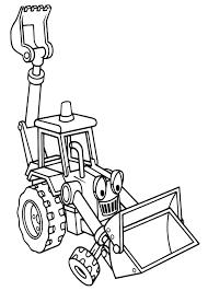excavator bob builder coloring pages excavator bob