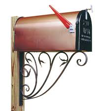 amazon com leafy leaf mail box bracket garden u0026 outdoor