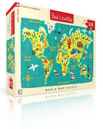 New World Map by World Map U2013 New York Puzzle Company