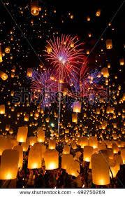 lanterns fireworks sky lanterns stock images royalty free images vectors