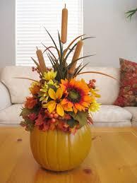pumpkin floral arrangement thanksgiving centerpiece fall table