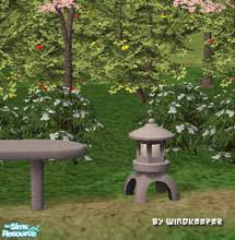 Japanese Garden Lamp by Downloads Sims 2 Objects Furnishing Lighting Outdoor