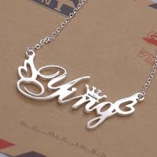 customized necklace gift 925 silver font custom personalized name