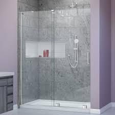 48 Inch Glass Shower Door Dreamline Mirage 56 To 60 Inch Frameless Sliding Shower Door