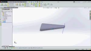 how to make a wing design in solidworks cadd youtube