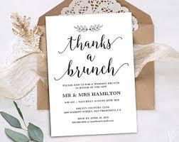 brunch wedding invitation brunch invitation etsy