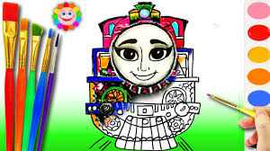 learning coloring ashima coloring page with thomas and friends how