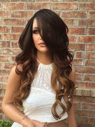 curl in front of hair pic haylee brown ombre multi parting human hair blend front lace wig