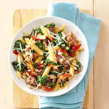 italian sausage u0026 sun dried tomato pasta recipe taste of home