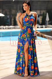 dress with necklace images Elegant blue summer dress with necklace attached to the neck jpg
