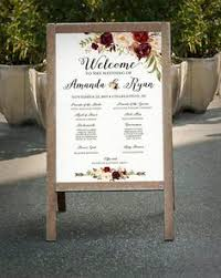 wedding program sign window pane wedding program menu welcome sign made to order
