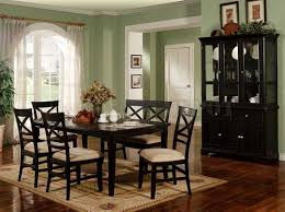 dining room set with hutch in black color ideas home interior