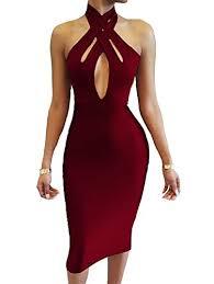club dresses tob women s halter bodycon shoulder club dress women