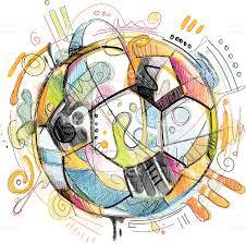 soccer sketch stock vector art 164551304 istock