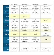restaurant employee schedule template excel kctati info