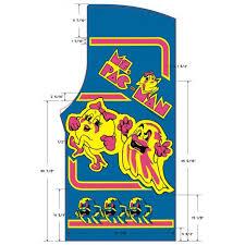 Ms Pacman Cabinet Original Pacman Arcade Game Images