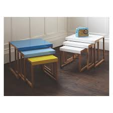 occasional tables for sale kilo solid oak and white metal nest of 3 side tables buy now at