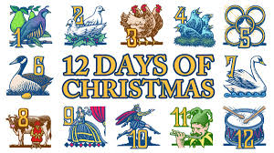 12 days of christmas coloring page the twelve days of christmas marine science graduate student