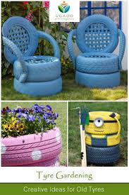 home decor flower garden made out old tires bb with