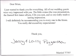 thank you card for wedding gift thank you cards brian kelm productions