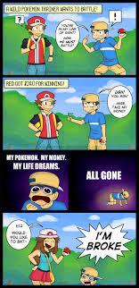 Pokemon Trainer Red Meme - the life of a npc pokemon trainer pok礬mon know your meme