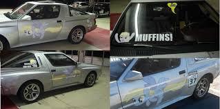 mitsubishi starion dash 248152 brony car custom decal derpy hooves drift female